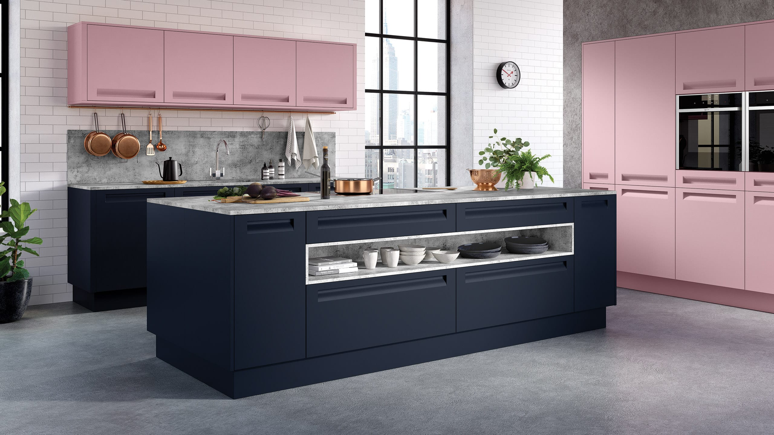 Autograph Painted Blush - indigo blue - kitchen