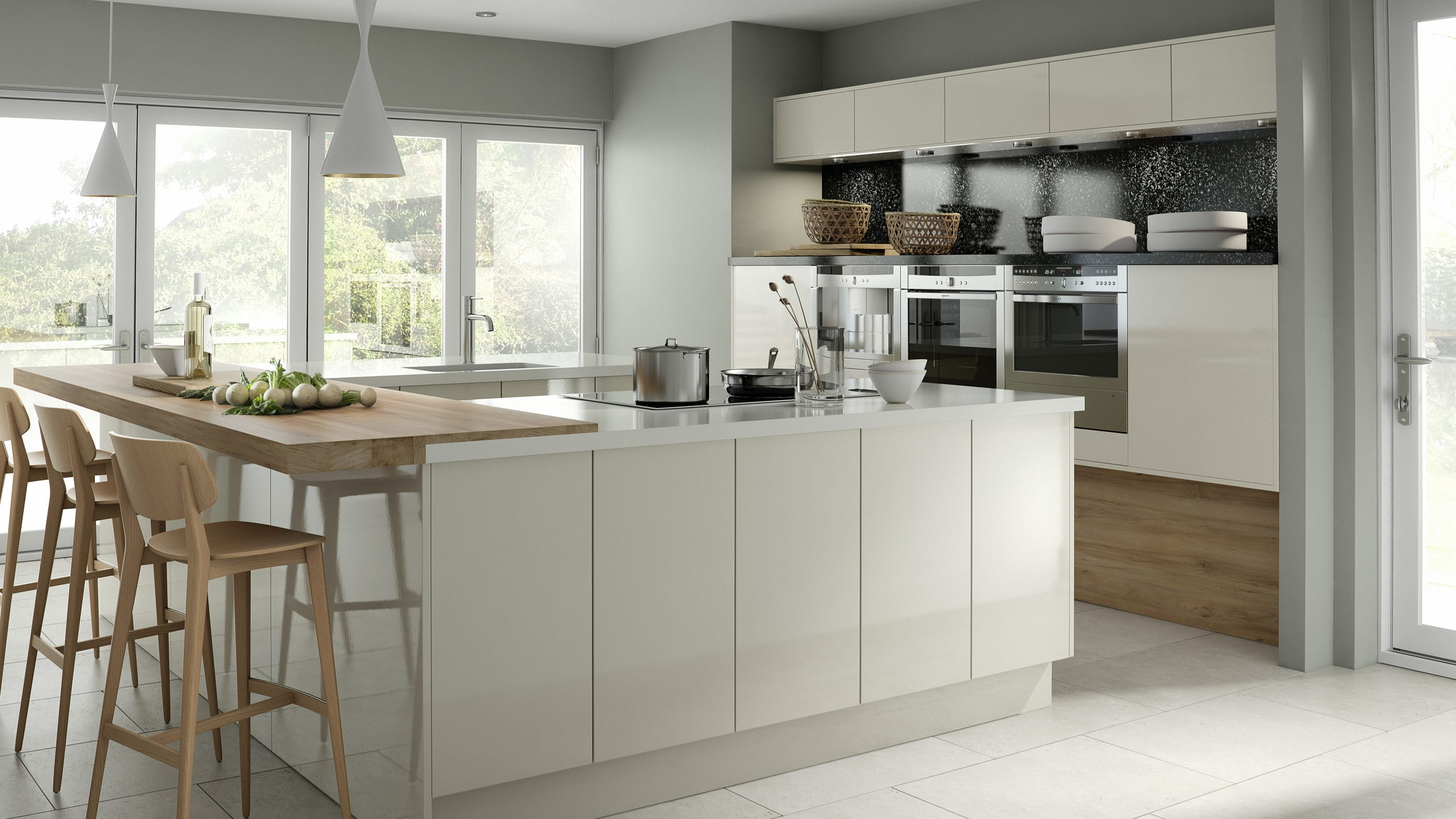Crystal Gloss Ivory - kitchen