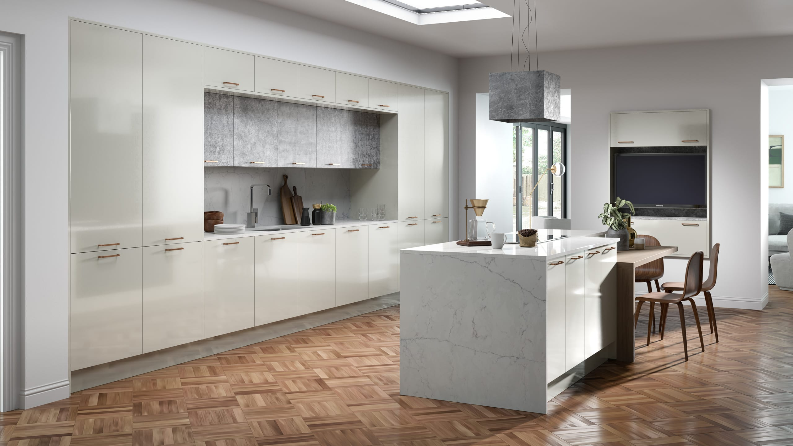 Crystal Gloss Limestone kitchen