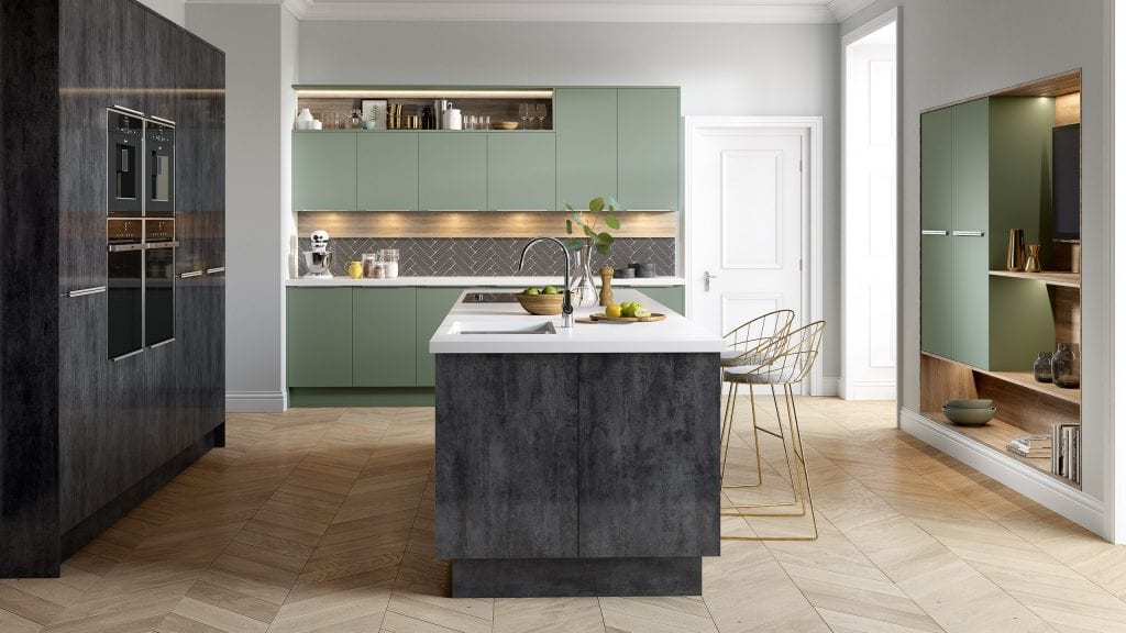Cube Fjord - Lustre Metallic - contemporary kitchen