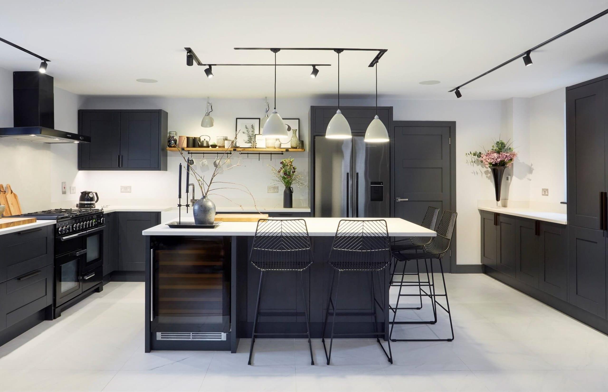 Dark Grey Shaker Painted Kitchen