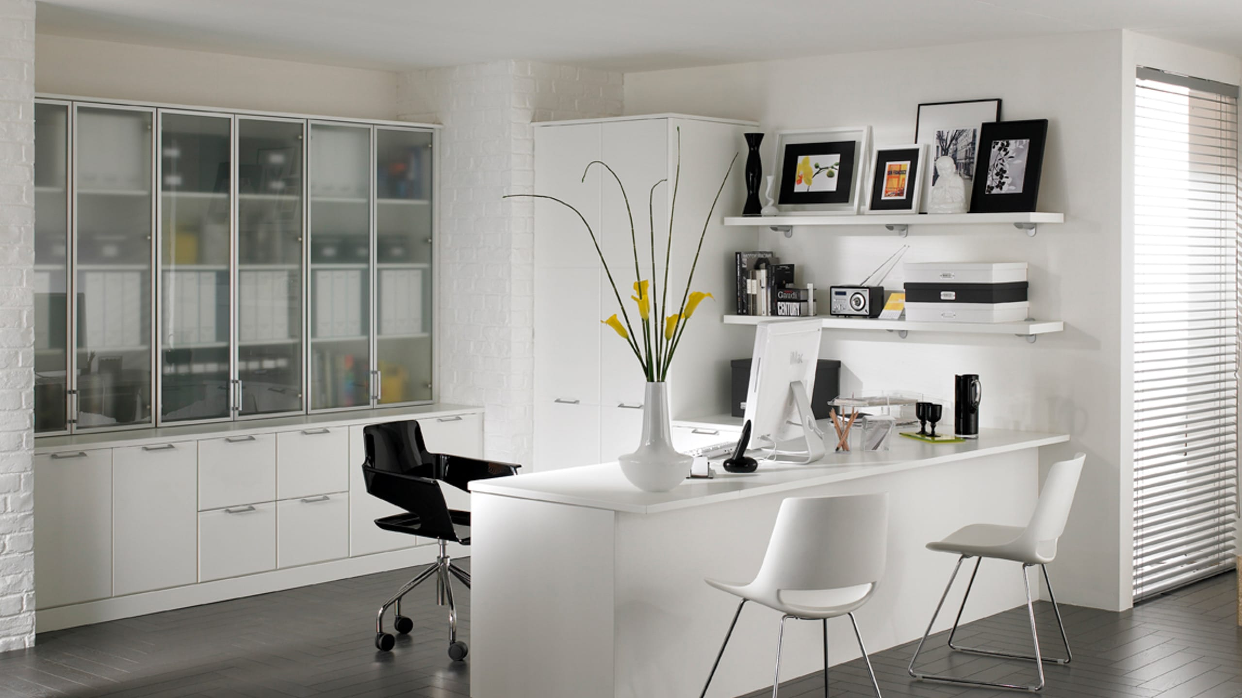 Designer Office in White