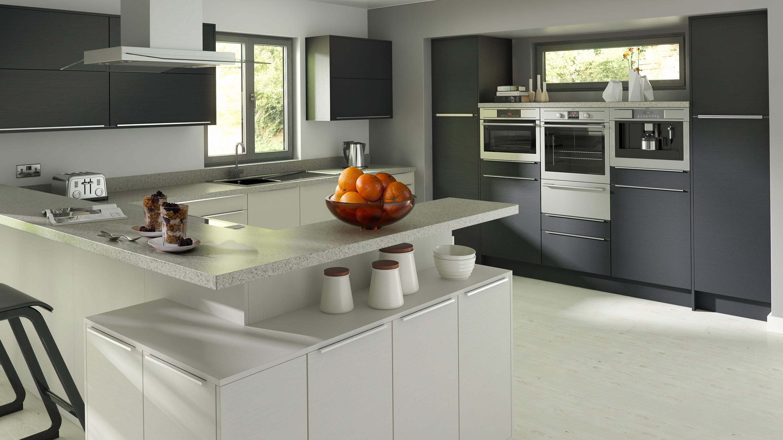 Embossed Anthracite - Light Grey - kitchen