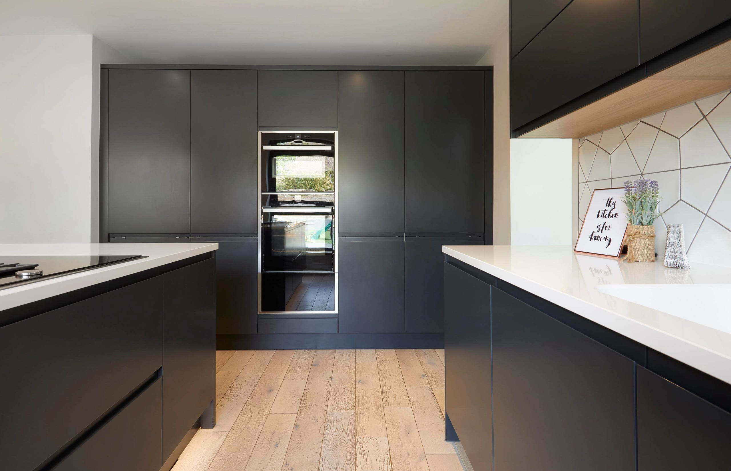 In Line Painted Anthracite Kitchen