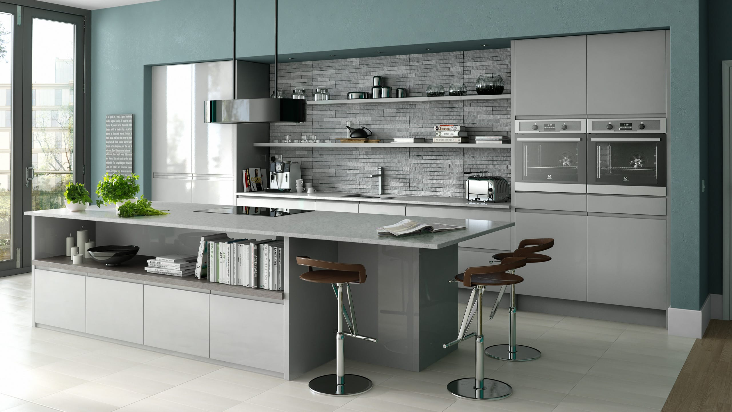 In line Gloss Grey - kitchen