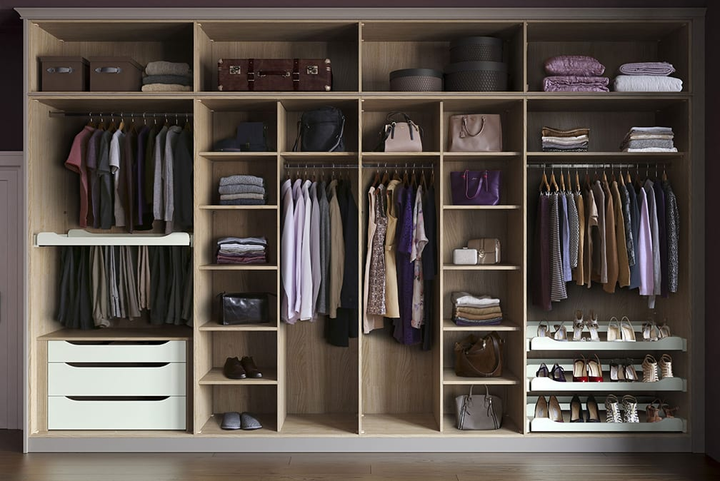 Fitted bedroom wardrobe by Ashford Kitchens & Interiors.