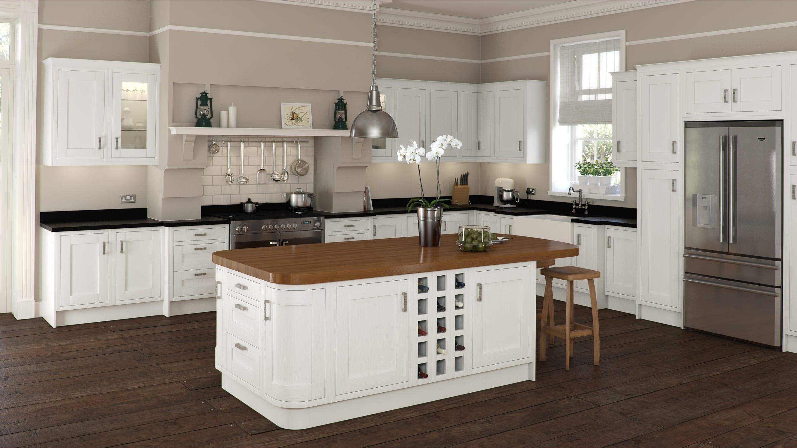 Ivory Foil In Frame - kitchen