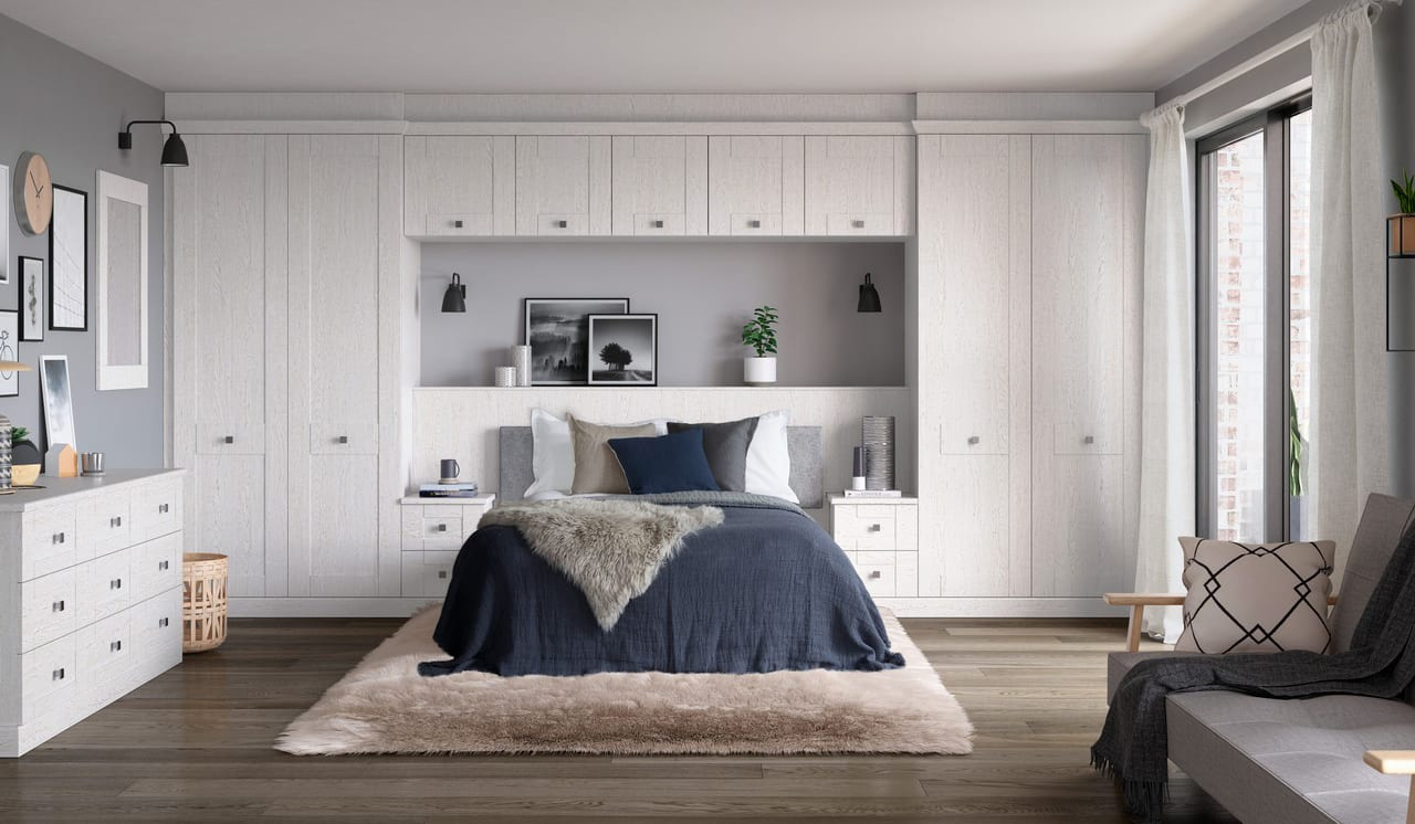 Kingsbury White Ash bedroom