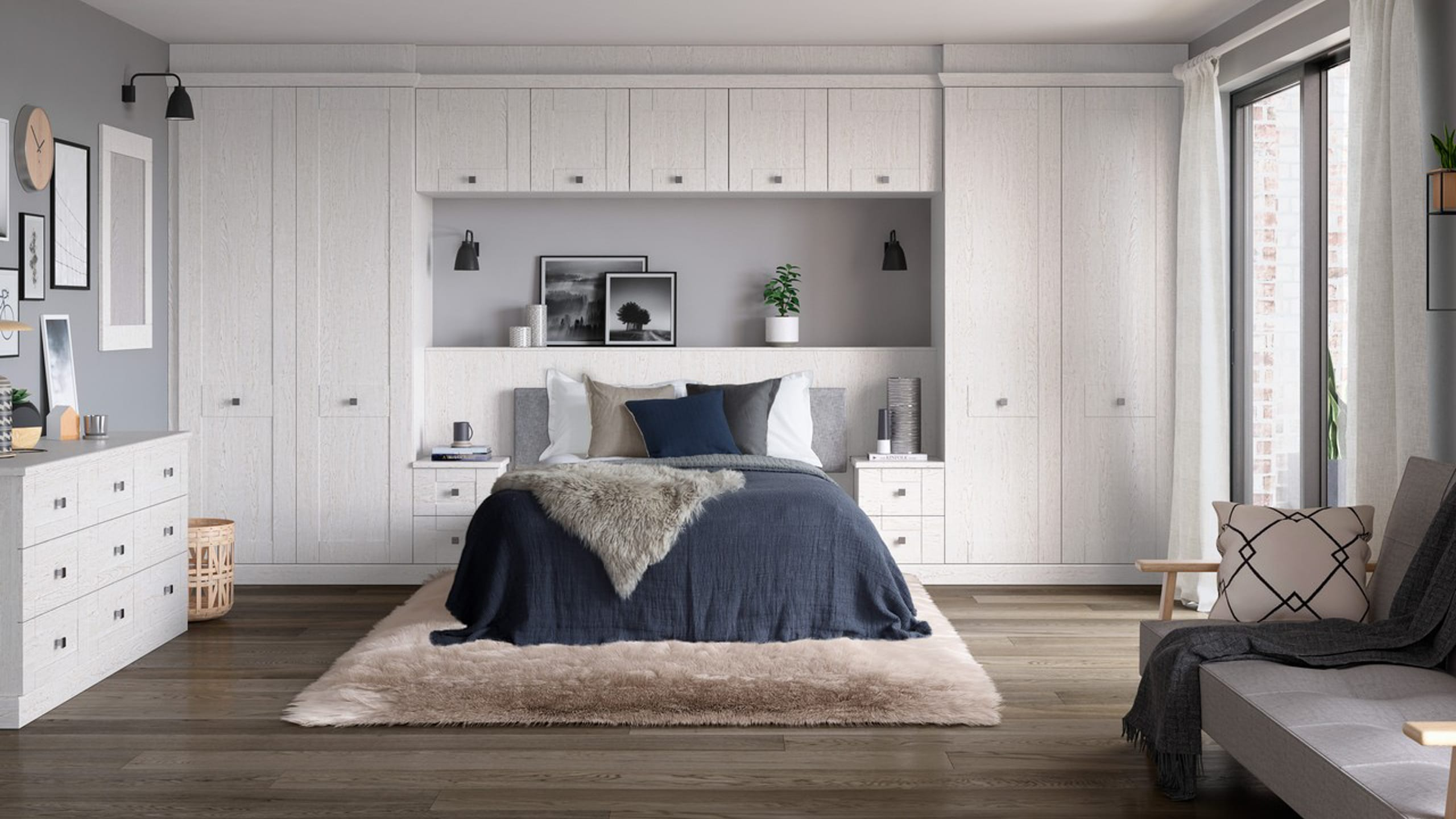 Kingsbury White Ash - bedroom