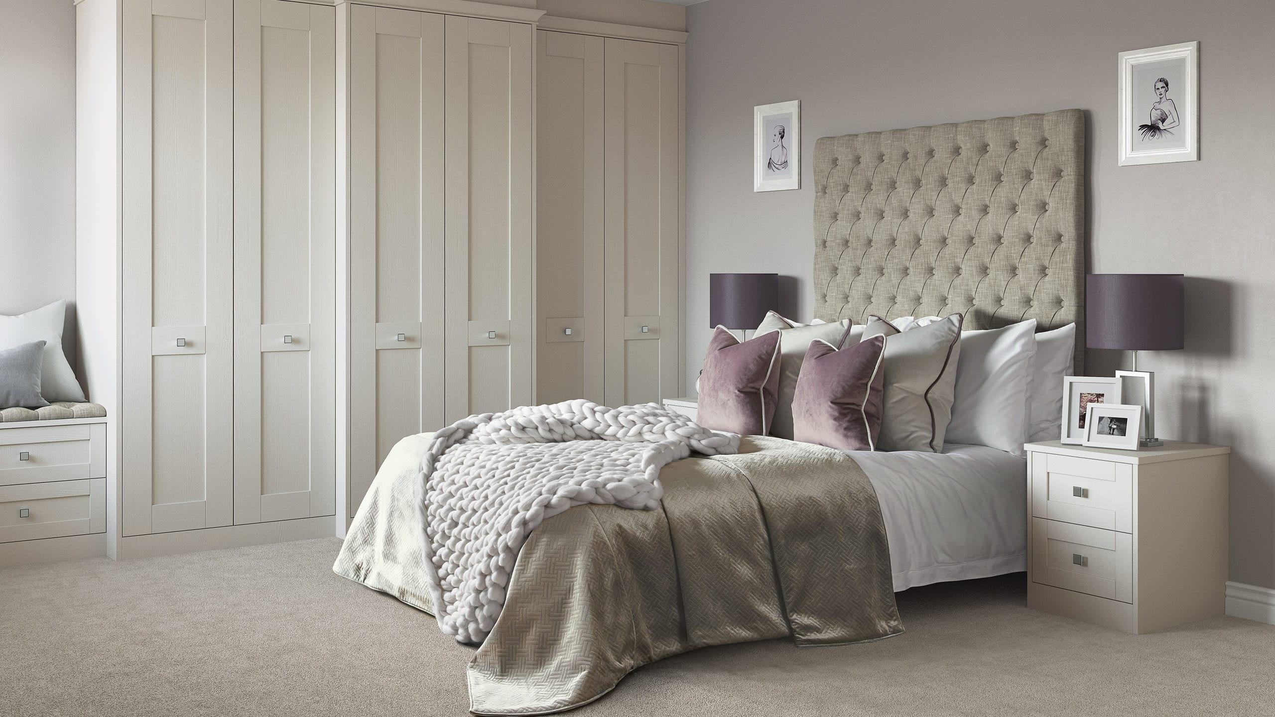 Milton Dove Grey - bedroom