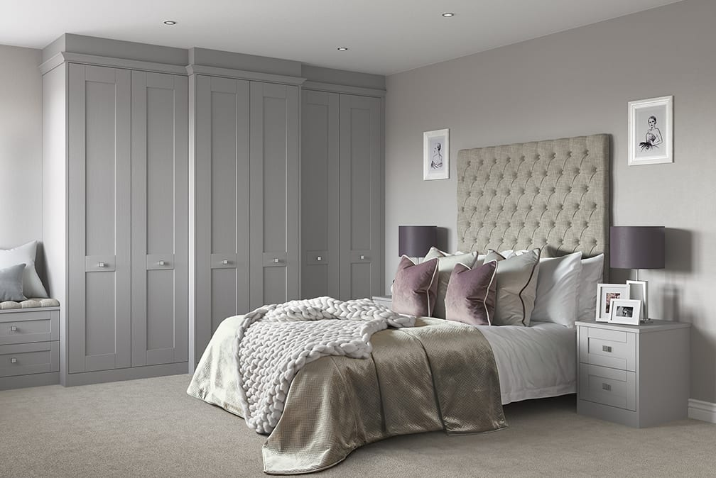Milton Dust Grey bedroom