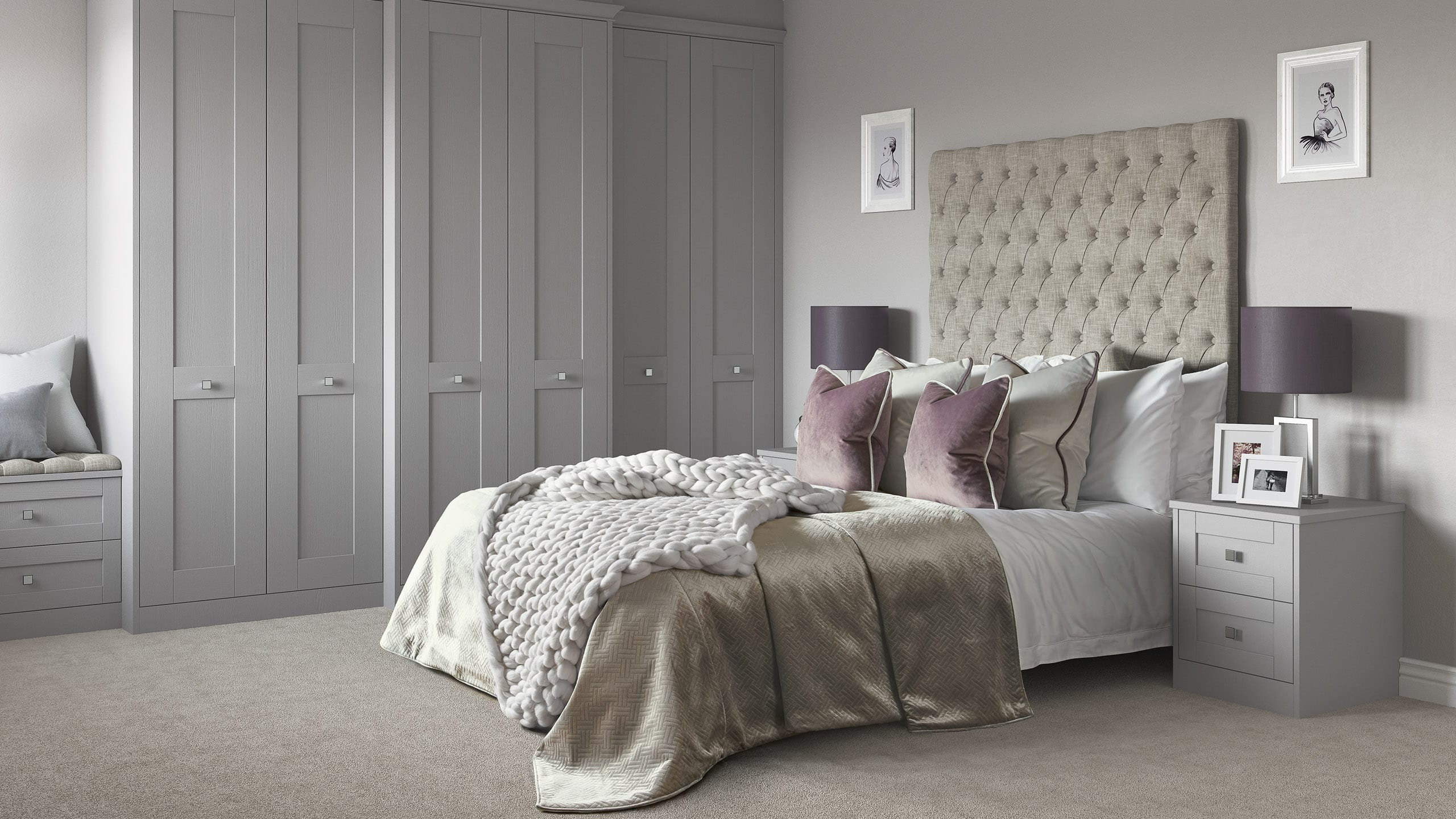 Milton Dust Grey - bedroom