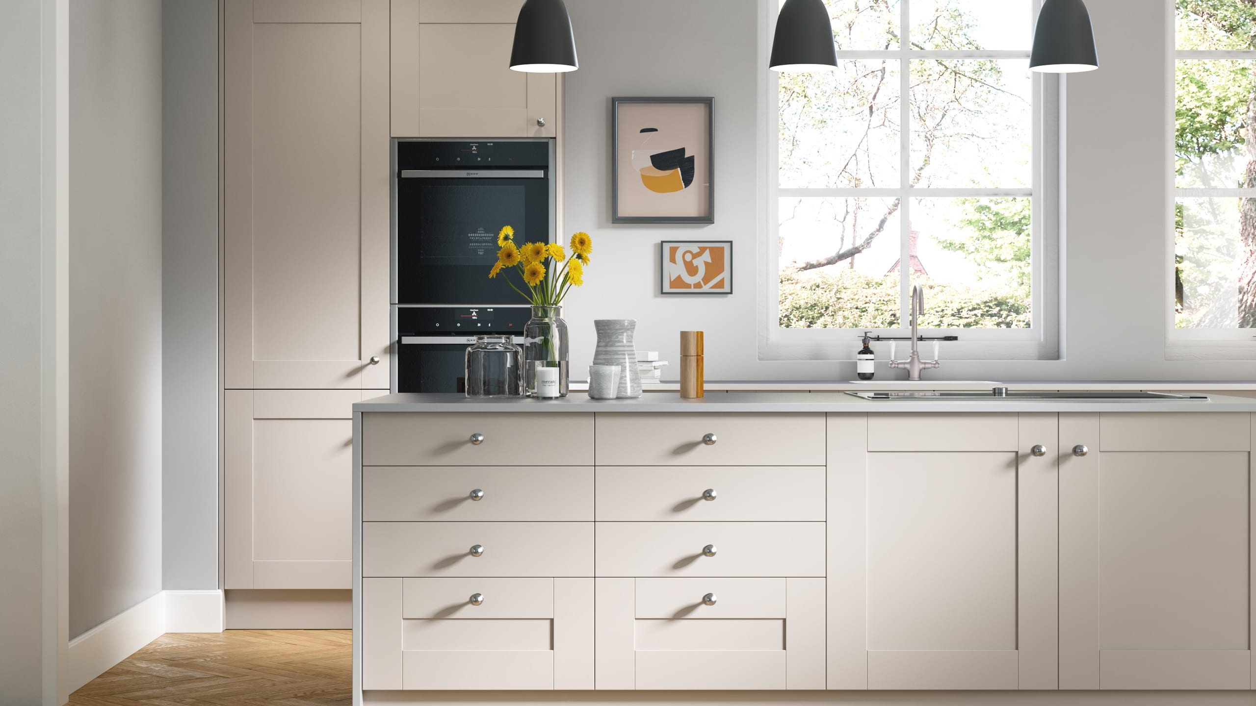 Nouveau Cashmere - shaker kitchen style by Ashford Kitchens & Interiors.