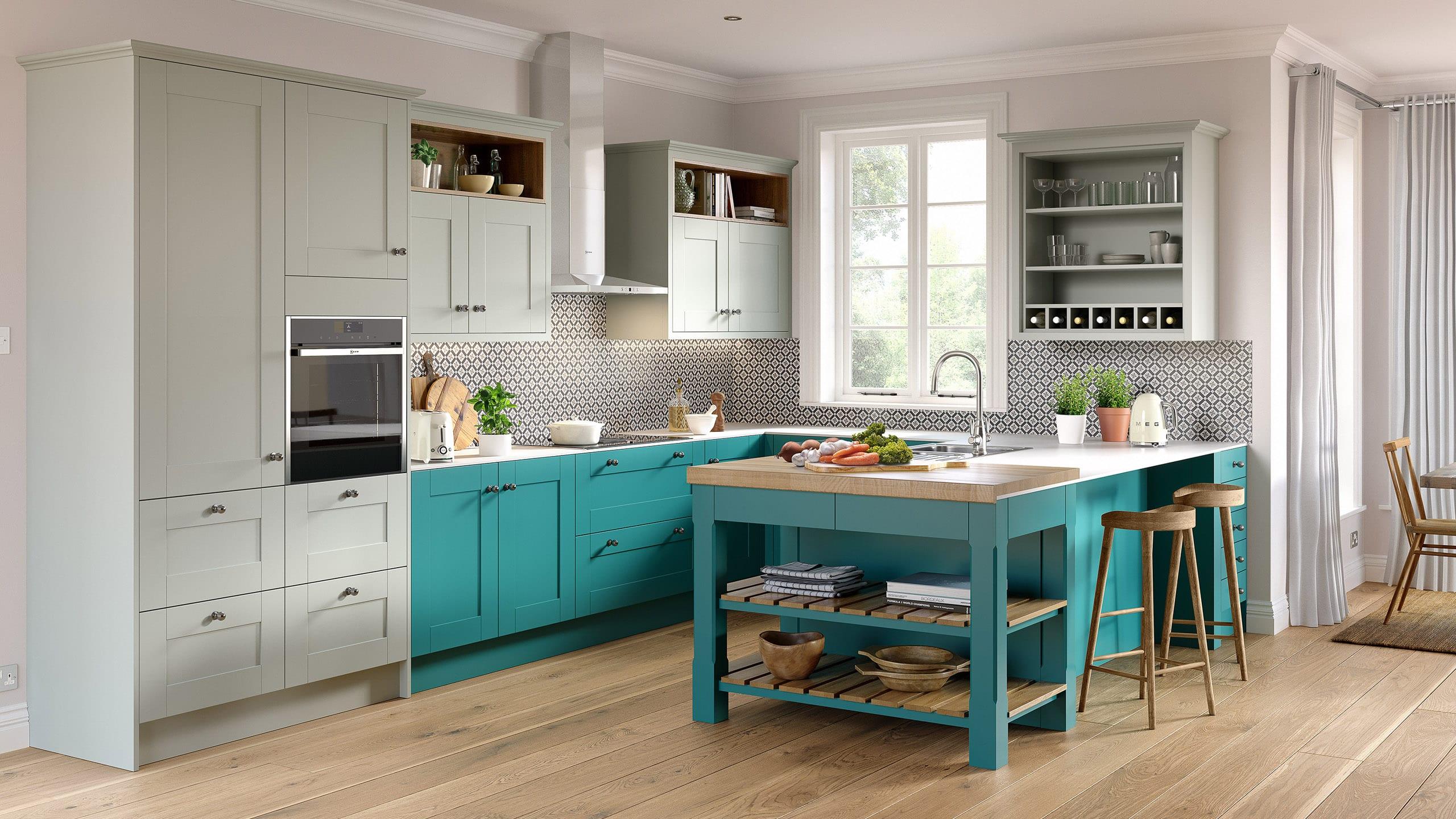 Nouveau Turquoise - Light Blue - kitchen