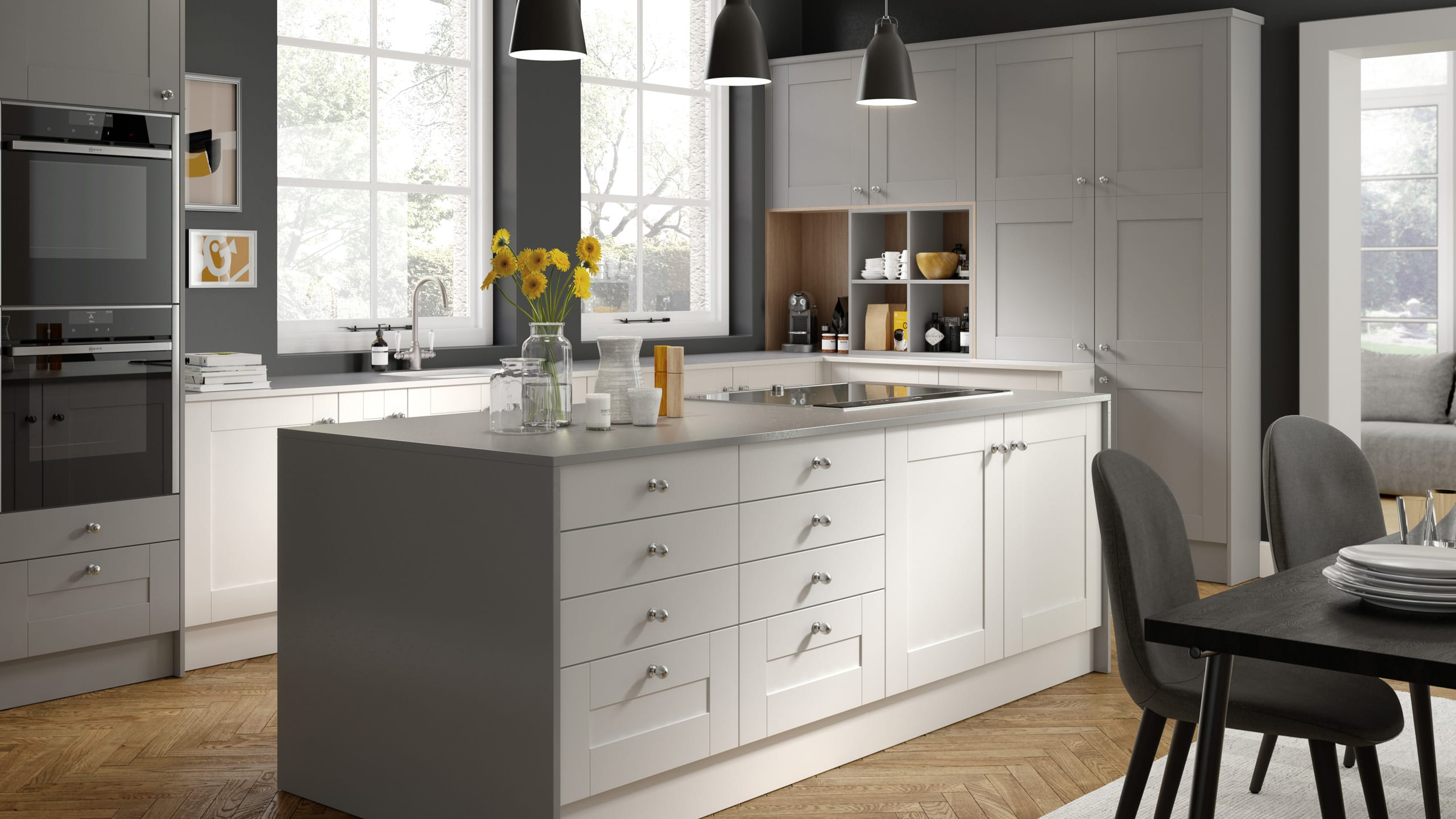 Nouveau White - Light Grey - kitchen