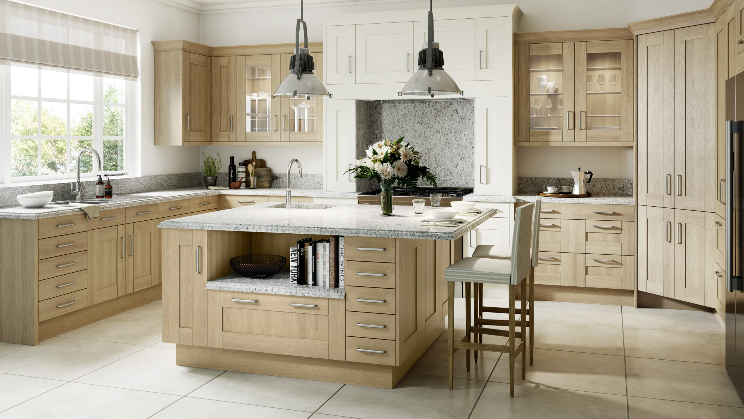 Sand Oak Wood Shaker - kitchen