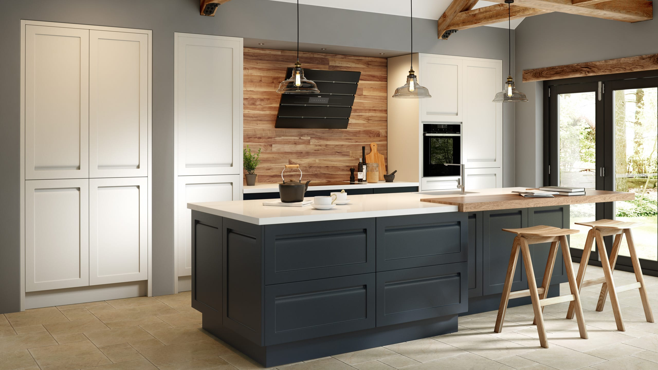 Savoy Painted Limestone - Anthracite - kitchen