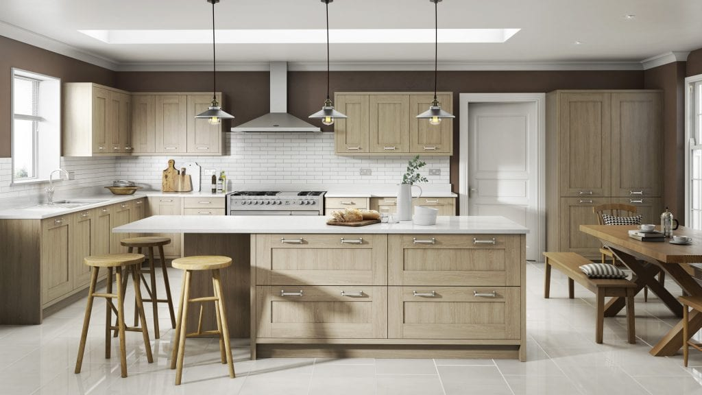 Sand Oak - Shaker Kitchen by Ashford Kitchens & Interiors.