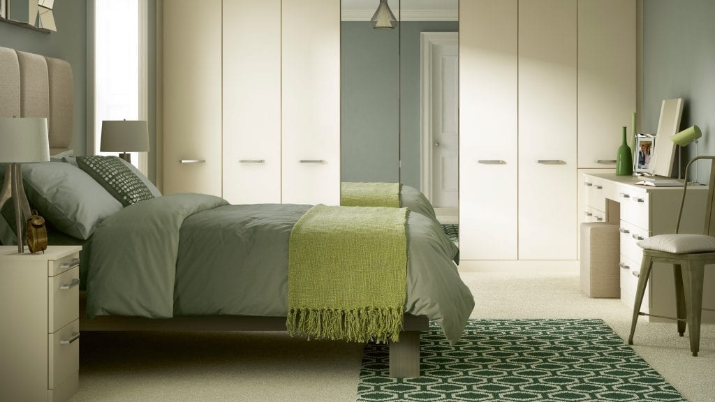 Solo Gardenia - modern bedroom design from Ashford Kitchens & Interiors.