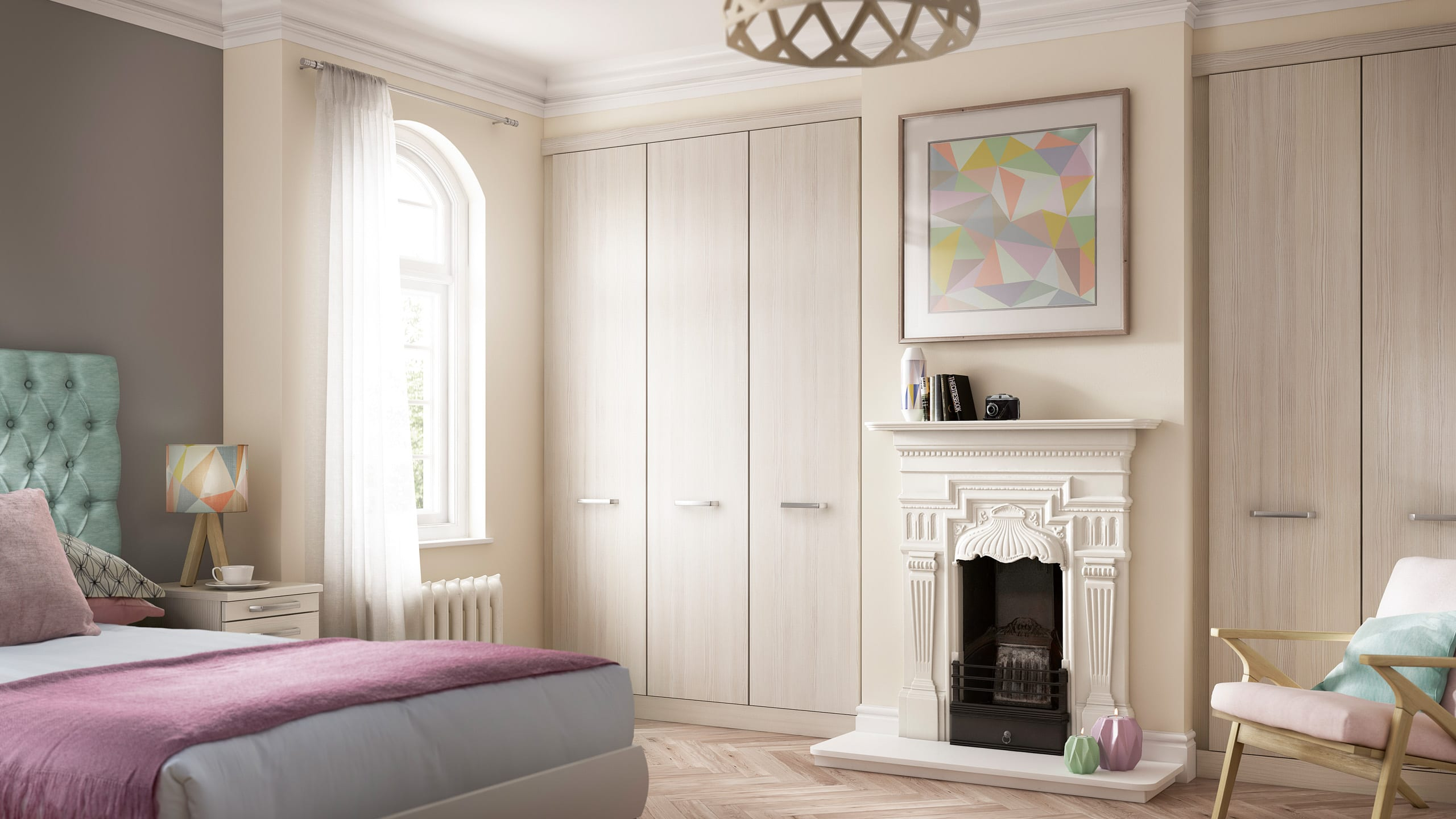 Solo White Avola - bedroom design by Ashford Kitchens & Interiors