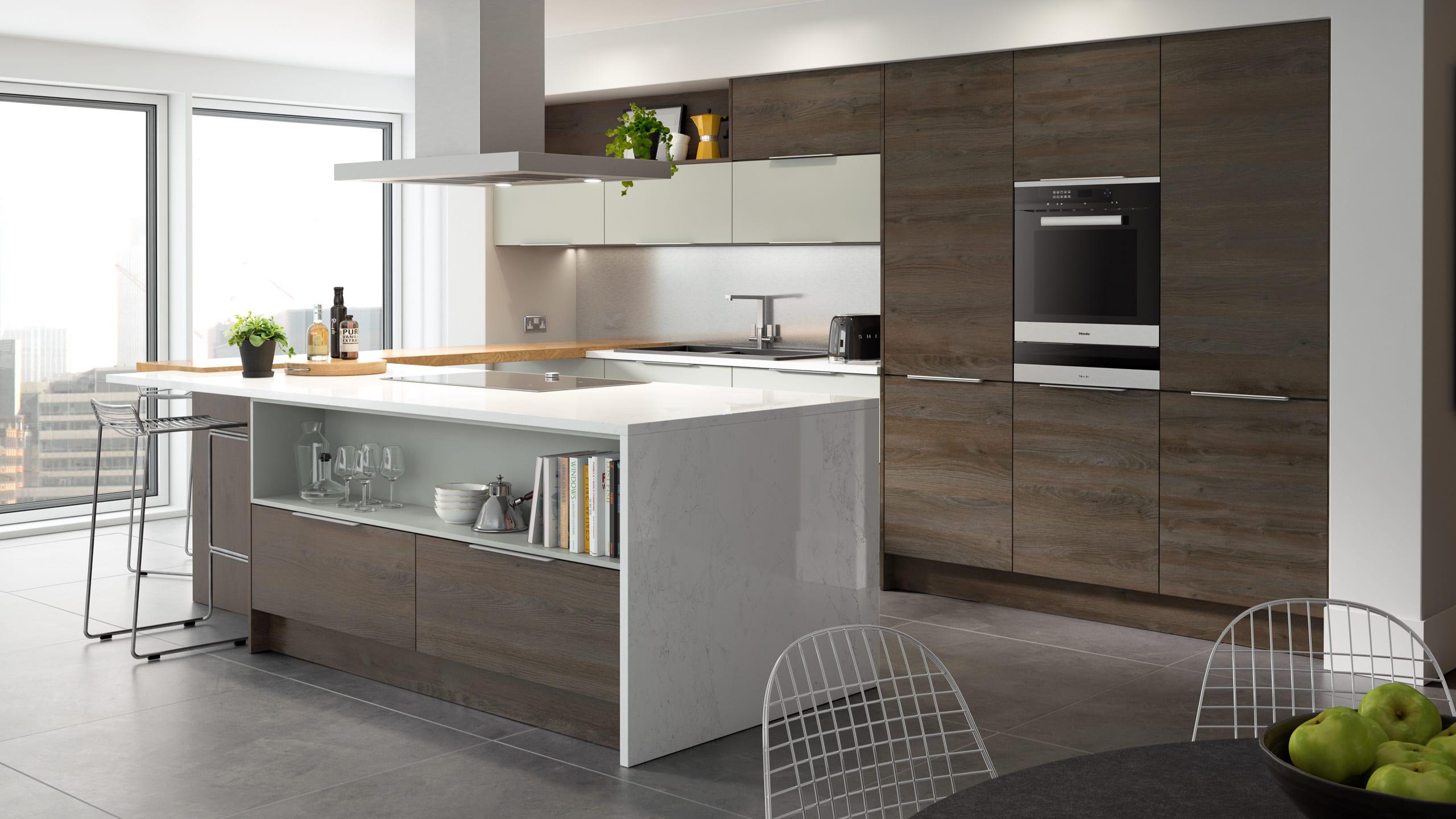 Woodgrain Gladstone Oak - Light Grey - kitchen