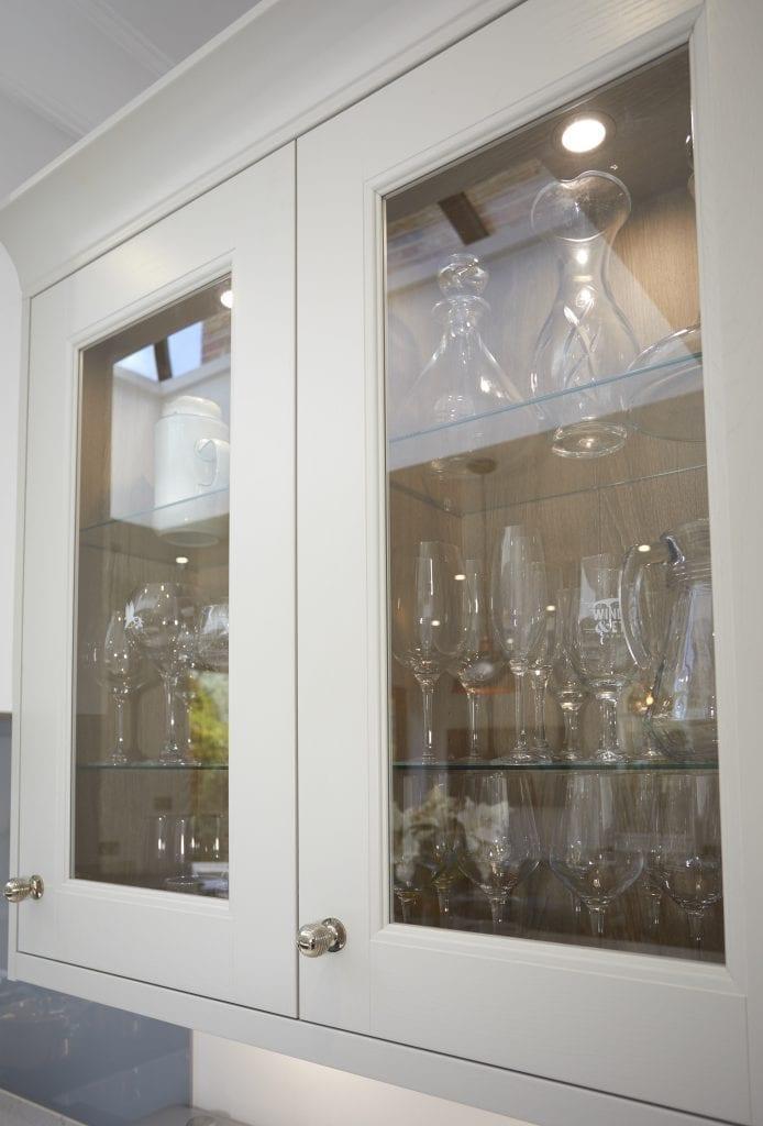Glass Door Kitchen Cabinet by Ashford Kitchens & Interiors.